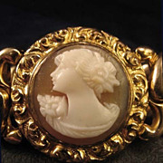 SALE Gorgeous American Queen Shell Cameo Expansion Link Bracelet