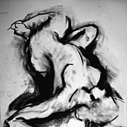Female Nude Original Charcoal Drawing Julia Trops