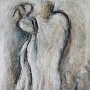 Abstract Ballet Dancers Charcoal Mixed Media  Painting Drawing Canadian
