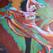"Female Nude Acrylic Painting 16""x20"" Earthy Expression"