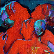 The Choir Female Nude Singers Original Acrylic Painting