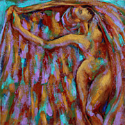 Female Nude Dancer Acrylic Painting Earthy Expressionist Trops