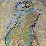 Female Nude Charcoal Pastel Drawing Julia Trops Abstract Art