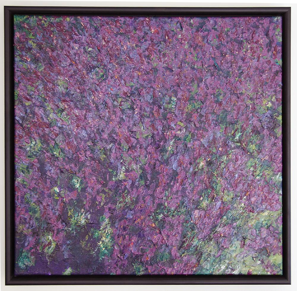 Lavender Lace Acrylic Painting Abstract Art Canadian Framed