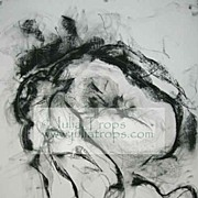 Huge Charcoal Graphite Original Drawing Female Julia Trops Canadian Artist