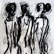 "Female Back Nude 18""x14"" Oil on Canvas Expressionist Canadian Artist Julia Trops"