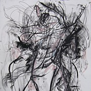 Huge Female Nude Charcoal Graphite Pastel Abstract Original Art Julia Trops