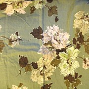 Bark Cloth Floral Pillowcase With BIG Flowers