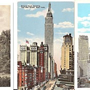 New York City Buildings 3 Vintage Postcards