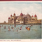 Saltair Beach - Great Salt Lake Postcard 1904
