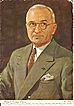 Harry S. Truman Portrait Postcard