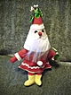 Vintage Felt Santa Ornament 1950's
