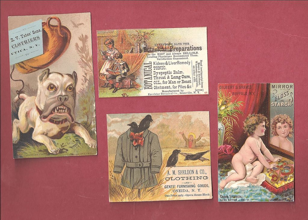 New York State Trade Cards ~ Boonville, Buffalo, Oneida & Utica