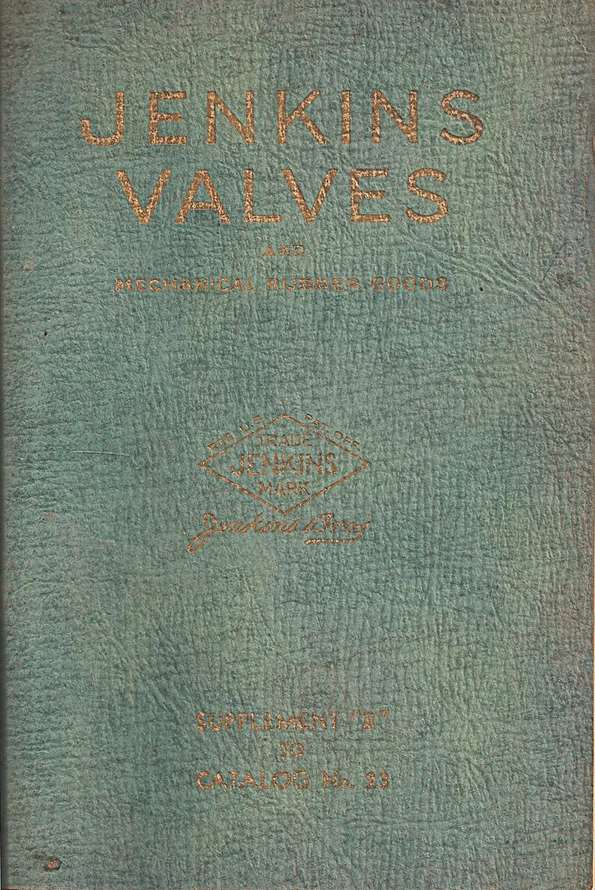 Jenkins Valves Catalog c. 1915