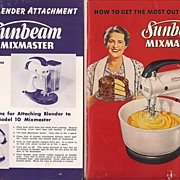 Sunbeam Mixmaster Cooking Booklet 1950