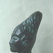 African Woman Ebony Bust ~ Unusual