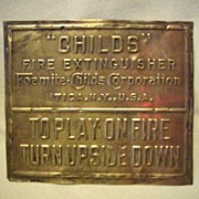 Brass Fire Extinguisher Plaque