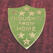 WW11 Sterling & Enamel Shield Pin