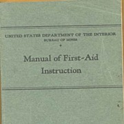 US Department of the Interior ~ Bureau of Mines ~ First Aid 1921