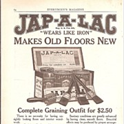 Advertisement for Jap-A-Lac Varnish c.1930's