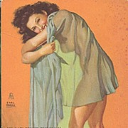 "Mutoscope ""Girlie"" Card by Earl Moran"