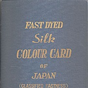 Silk Color Card Book - Japan Silk - 1967 Must See!