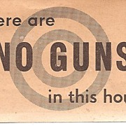 There Are NO GUNS In This House Sign - Very Interesting