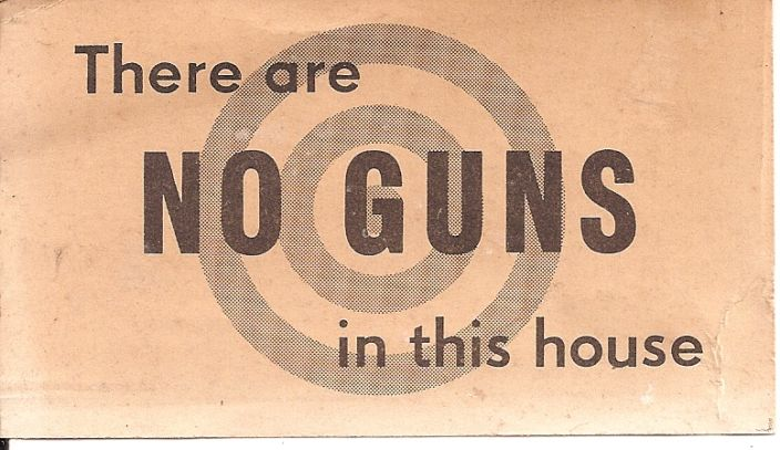 no guns in this house