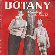 Botany College Hand Knits Knitting Booklet * 1958