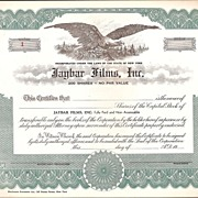 Stock Certificates ~ Jaybar Films, Inc.