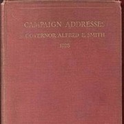 Campaign Addresses Gov. Alfred E. Smith 1928