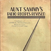 Aunt Sammy's Radio Recipe Booklet * 1931