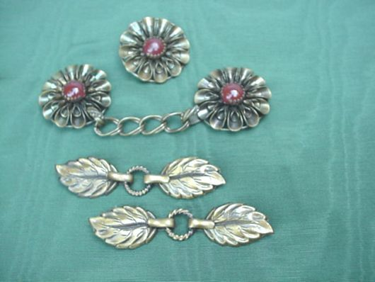 1940's Cloak & Button Clasps ~ Beautiful