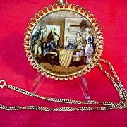 George Washing * Betsy Ross  * First Flag Medallion Necklace