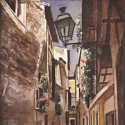 Spain * Watercolor ~ Street Scene