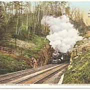 Berkshire Hills, Mass. State Line Tunnel Postcard