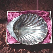 Shell Shaped Silver-Plate Dish * Mexico