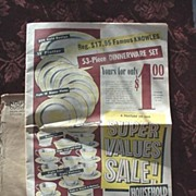 Scranton, Pa Household Outfitting Co. Super Value News Catalog #1