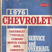 Chevrolet 1976 Light Duty Truck Manual