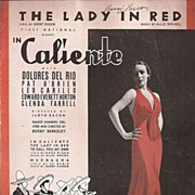 "Delores Del Rio ""The Lady in Red"" Sheet Music"