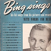 Bing Crosby Music Book ~ 15 Songs ~ 1940