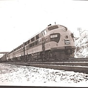 Train Photo * Lackawanna Railroad Diesel Freight Train