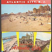 Atlantic City, N.J. 3 Color Post Cards