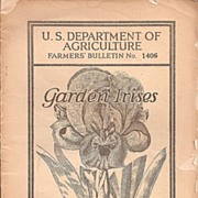 Garden Irises ~ USDA Booklet 1926