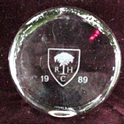 Tiffany & Co. RHC Paperweight 1989