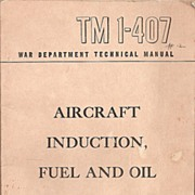 US Army TM 1-407 Aircraft Induction Systems * 1944