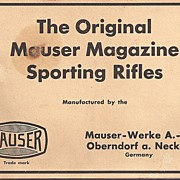 Mauser Magazine Sporting Rifles Catalog / Manual 1964