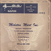 Midston Mart Catalog * 1952 TV * Radio * Appliance