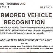 Armored Vehicle Recognition Cards * U S Army * 1987