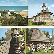 Bucharest, Romania * 4 Color Photo Postcards